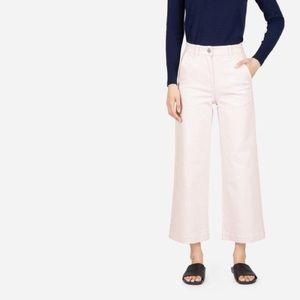 Everlane Pale Pink Wide Leg Crop Pants